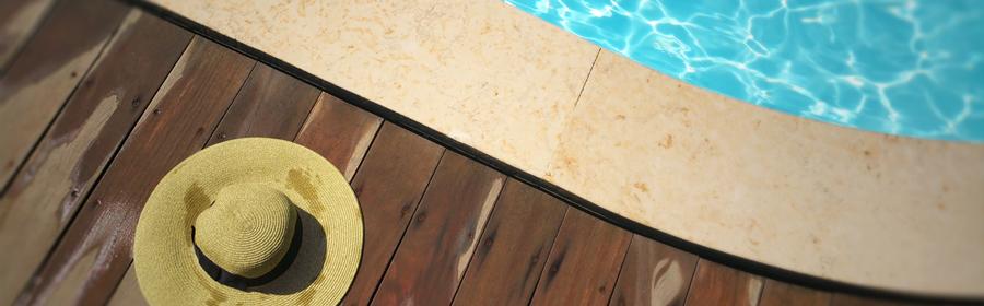 Produits d'aménagement de terrasses, piscines et jardins